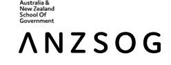 Australia & New Zealand School of Government logo